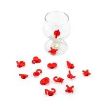 14 шт креативные силиконовые цифры бокал для вина амулеты ура напитки маркеры или бирки(красный