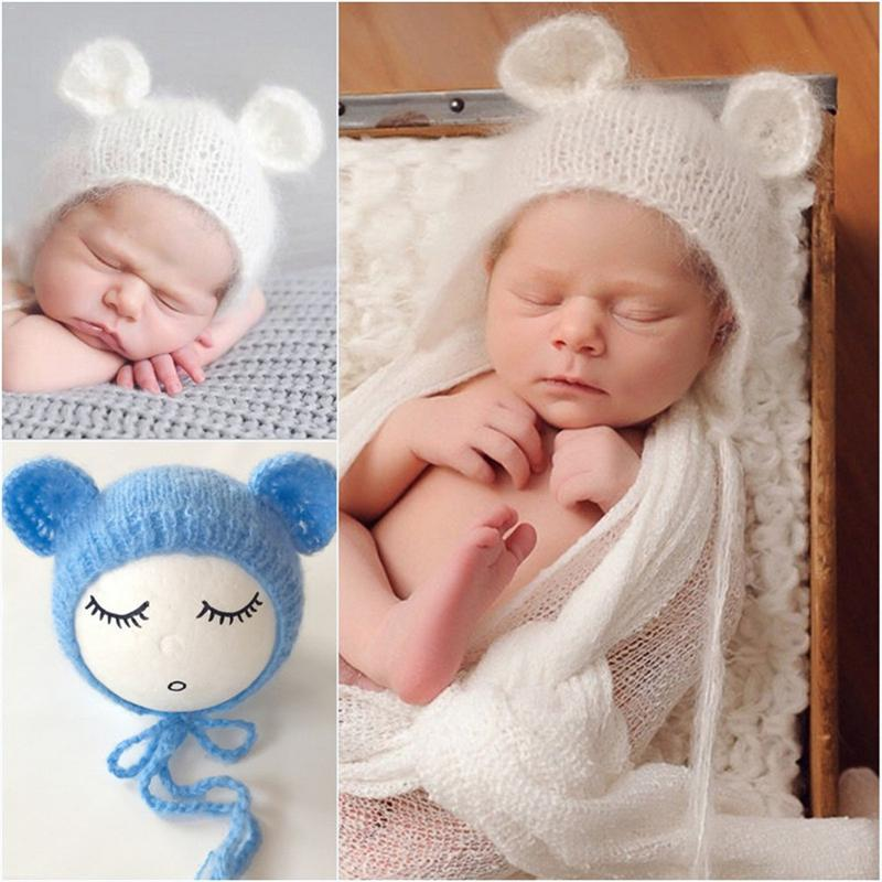 0e87f1e5fdb1d US $2.81 30% OFF|Newborn Baby Cute Crochet Knit Costume Prop Outfits Photo  Photography Baby Hat Photo Props New born baby girls lovely cap-in Hats &  ...
