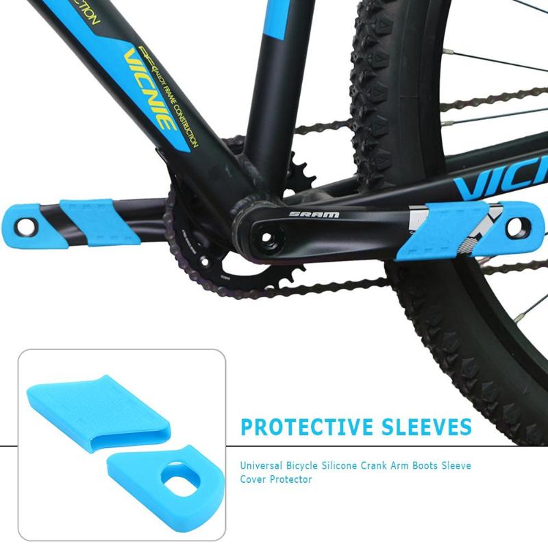 1Pair Sleeve Silicone Sets Silicon Bicycle Bike MTB Crank Arm Boots Protectors