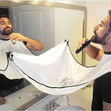 Shave cloth  trim cleanup beard bib Apron Gather Whiskers Cloth Bib Facial Hair Trimmings Catcher Cape Sink