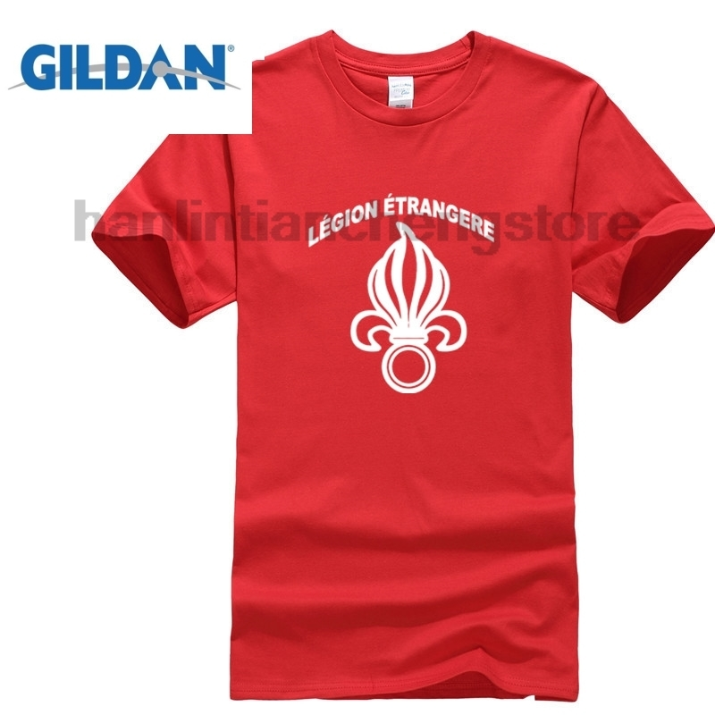 GILDAN 2018 Summer T-Shirt O-Neck Fashion Casual High Quality New French Foreign Legion Etrangere Military Army T Shirt