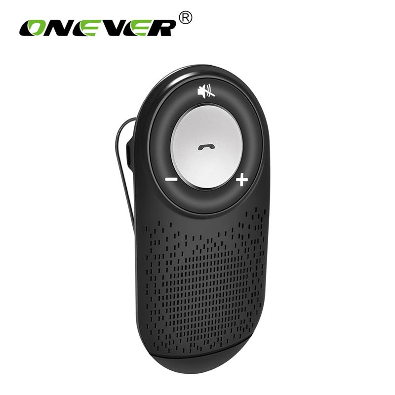 Onever Wireless Car Bluetooth Speakerphone Multiple Connection Smart Phone Support For Auto ON OFF Handsfree Car Kit