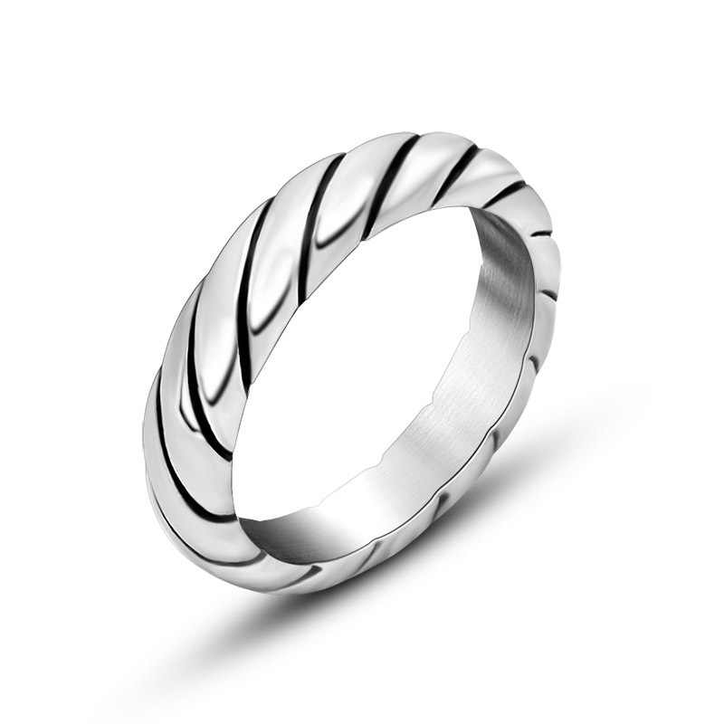 Titanium Steel Rings For Men and Women fashion Male Wedding Ring Jewelry Gift Unique Striped Designed alliance Accessories