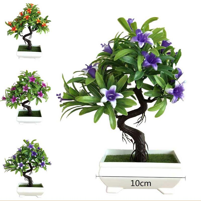 Dynamic Simulation Petunia Plant Floral Potted Green Bonsai Decoration Small Bonsai Christmas Home Decor Table Top Ornaments Distinctive For Its Traditional Properties Home & Garden