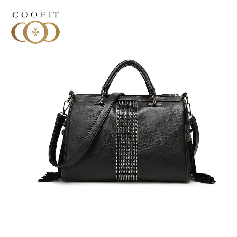 coofit Vintage Womens Handbag PU Leather Pillow Pattern Tote Bags Crossbody Shoulder Bag With Tassel Black Women Handbagscoofit Vintage Womens Handbag PU Leather Pillow Pattern Tote Bags Crossbody Shoulder Bag With Tassel Black Women Handbags