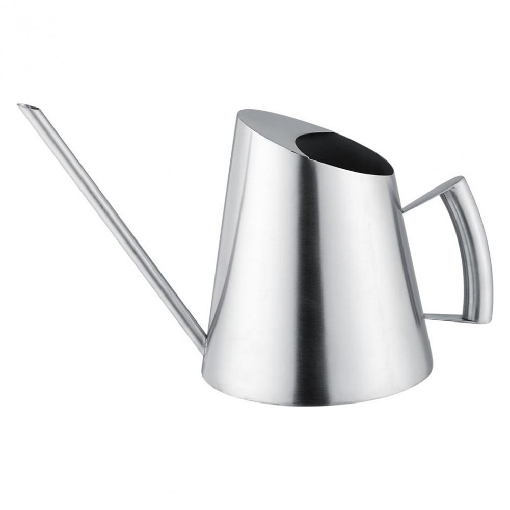 1500Ml Stainless Steel Watering Can Brushed Garden Planting Sprinkler Pot Green Plants Flowers Gardening Tools Water Cans     - title=