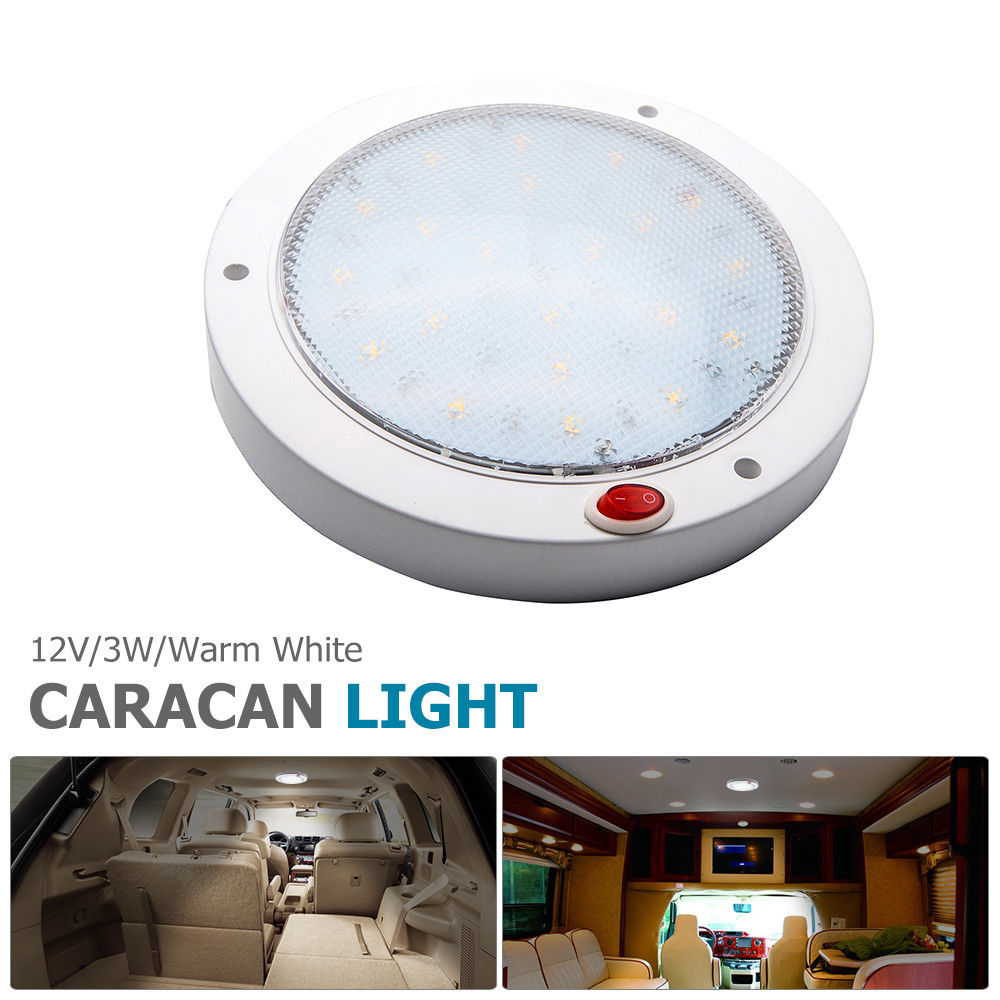 12V 3W Interior LED Warm White Ceiling Roof Light for Trailer Van Boat Caravan Warm White LED light-in RV Parts & Accessories from Automobiles & Motorcycles