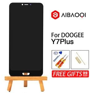 Image 1 - AiBaoQi Nieuwe Originele 6.18 inch Touch Screen 2246x1080 LCD Beeldscherm Vervanging Voor Doogee Y7 Plus Android 8.1 Telefoon