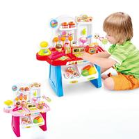 Children Multifunctional Toy Simulation Mini Supermarket Cashier Vendor Stall Play House Music Toys