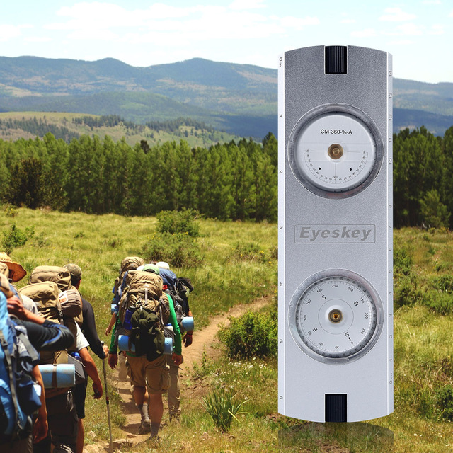 Outdoor Clinometer Compass Camping Hiking Travel Survey Tools for Slope Height Measurement