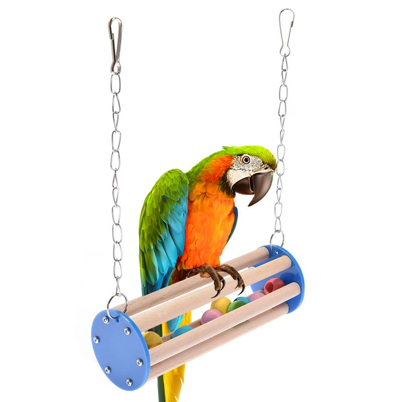 Bird Toys Parrot Chew Toy Birds Acrylic Hammock Swing Funny Climbing Training Education Toys Birdcage Accessories Bird Supplies