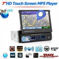 7 pollici Telescopica Grande Schermo Auto MP5 Lettore Auto DVD FM/MP5 Auto Radio Player GPS Supporto Bluetooth chiamata hands Free