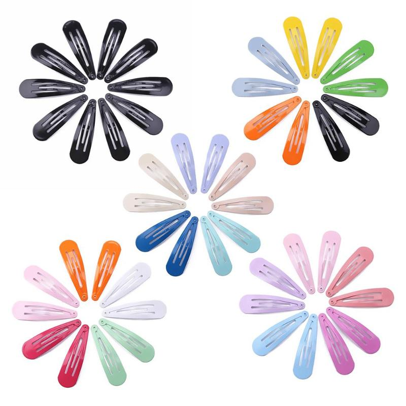 Baby Toddler Girl Kids Hairgrip Hair Clip 10pcs/set Candy color Solid Snap Hair Clips Metal Girls Hairpins Casual Headwear props