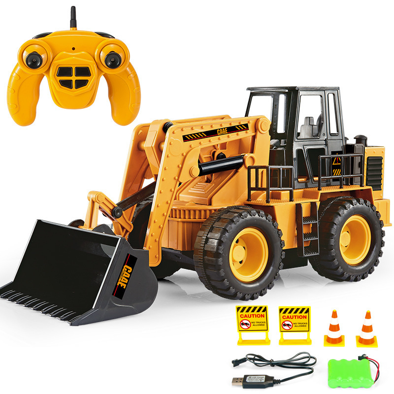 RC Truck Toy Remote Control Forklift 7Channel Excavator Bulldozer Vehicle Engineering Electric Toys For Children Kid Boy Gift children s electric educational remote control excavator model 2 4g remote control rc construction vehicle engineering truck toy