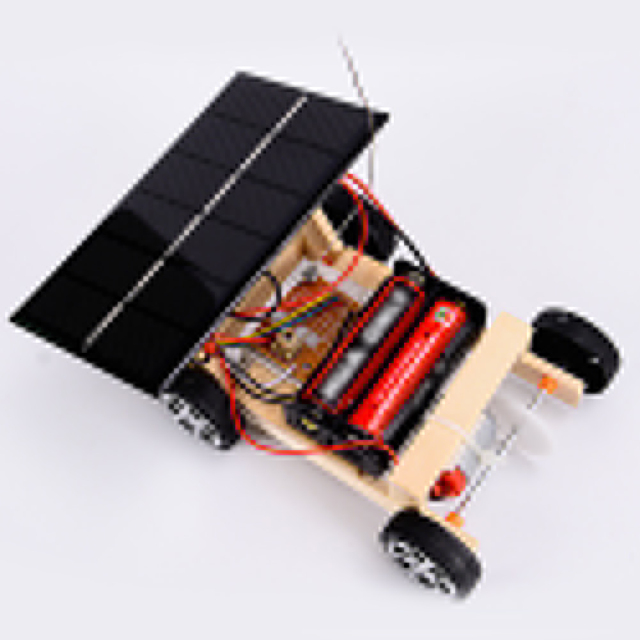 Assembly RC Toys DIY Mini Wooden Car  2