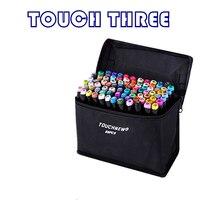 Touchthree 30/40/60/80 cor marcador de arte caneta alcoólica oleosa dupla cabeça marcadores de esboço do artista para o design do mangá da animação|Marcadores da arte| |  -