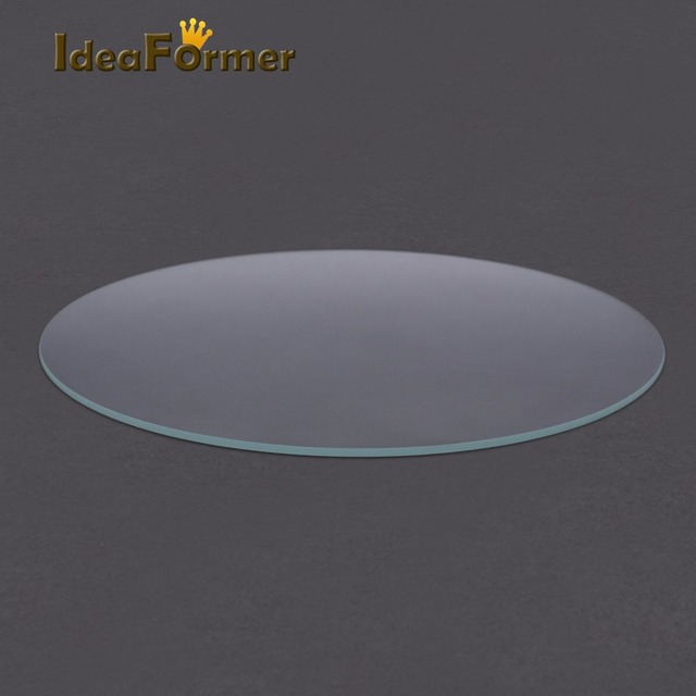 3D Printer Round Borosilicate Glass plate heated bed Diameter 200mm 220mm 240mm Flat Transparent Tempered Glass for Kossel Delta
