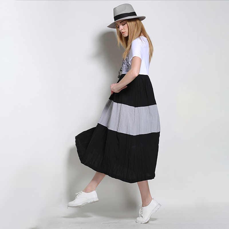 LANMREM 2019 льняное с короткими рукавами летнее платье для женщин Новая мода женская Свободная Повседневная Удобная одежда Vestido YG64400