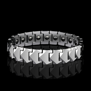 Image 2 - Tungsten Links Bracelets for Men High Polished Inlay Health Magnetic Stones Three Color, Free Shipping, Customized