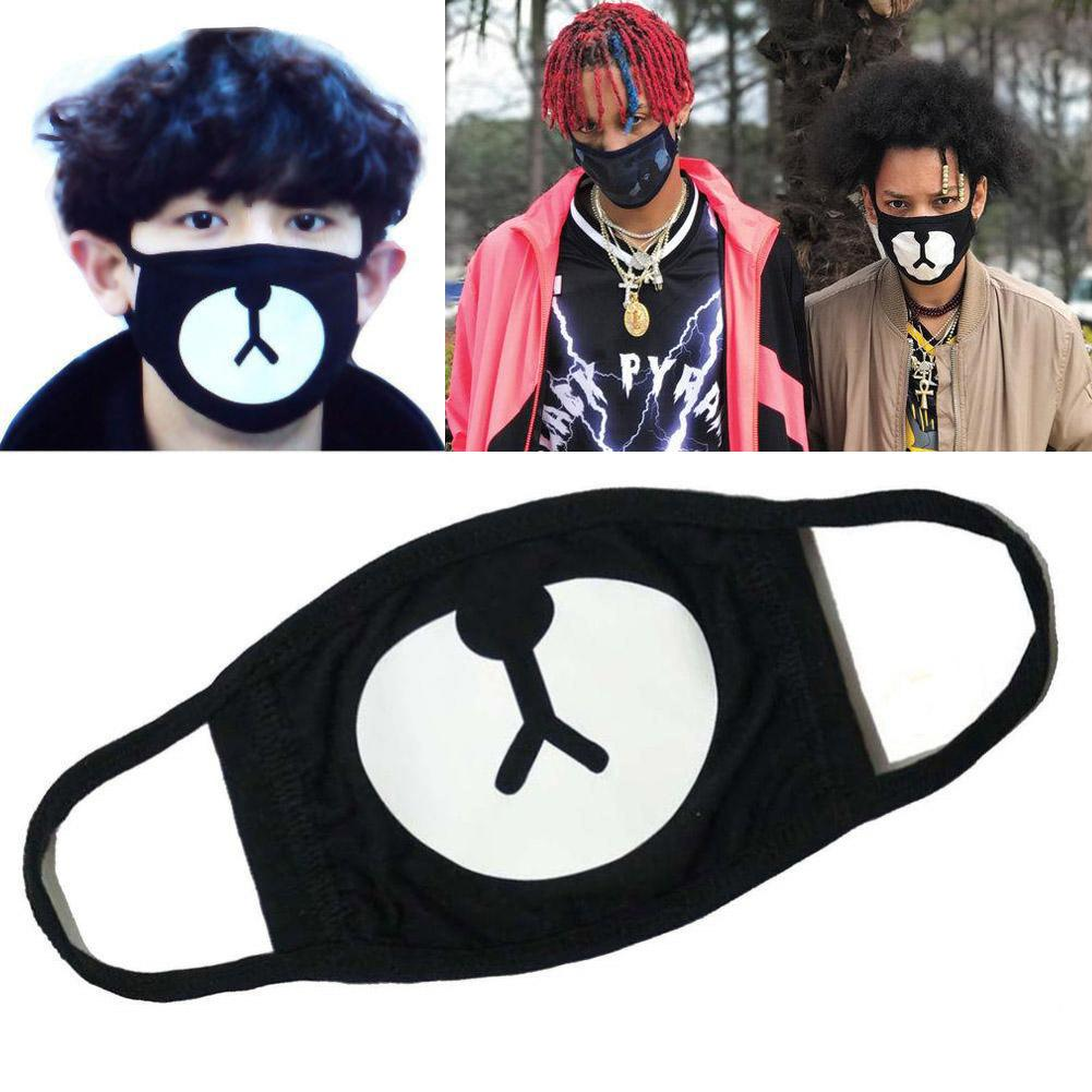 Black Unisex Anti-Dust Cotton Mouth Face Mask Motorcycle Bicycle Outdoor Sport Windproof Face