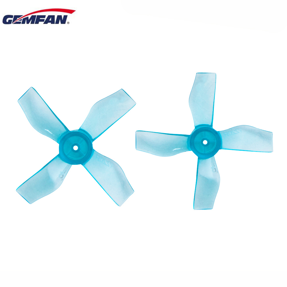 4 / 8 / 12 Pairs Gemfan <font><b>1220</b></font> 1.2x2.0x4 31mm 0.8mm Hole 4-blade Propeller for 0703-1103 RC Drone FPV Racing Brushless <font><b>Motor</b></font> image