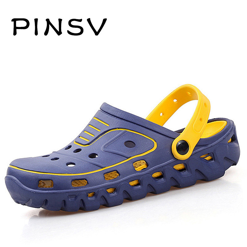 Summer Shoes Men Sandals Garden Shoes Men Clogs Casual Outdoor Beach Slippers Men Zapatillas Hombre Chaussure Homme PINSV