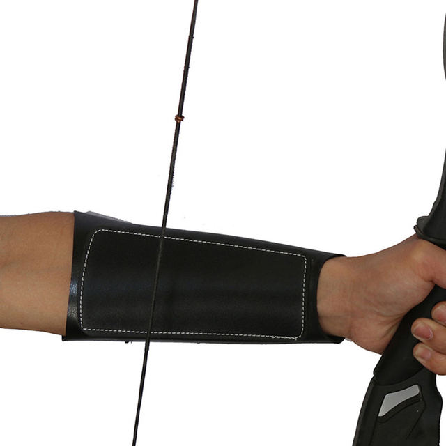 Archery Arm Guard Leather Restraint Protector Guard Pull Bow Protect Arm for Shooting Hunting 4