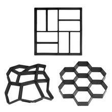 DIY Пластиковая форма для изготовления дорожек, ручная тротуарная плитка, цемент, кирпичные формы, садовые каменные дорожные бетонные формы, тротуар для сада, дома