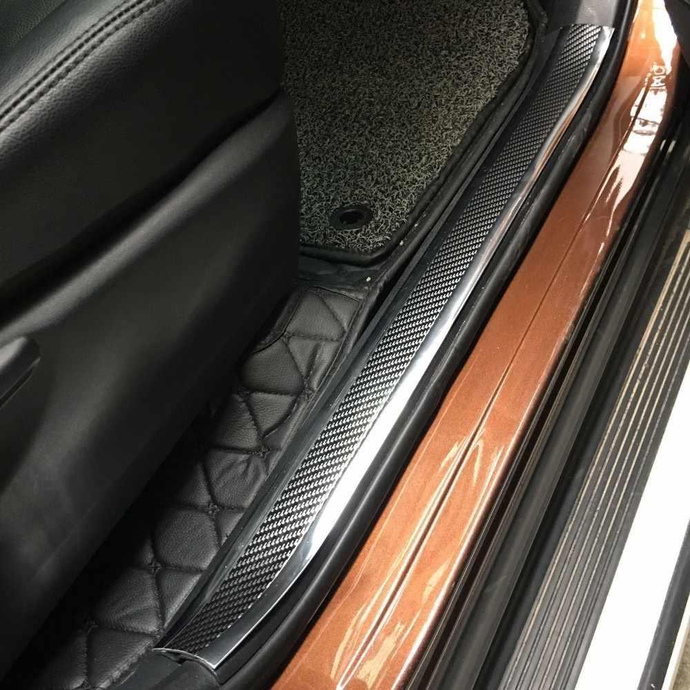 1 м Автомобильная Накладка на порог, панель ступенчатой защиты, защита края 5D, Виниловая наклейка из углеродного волокна, накладка, наклейка на багажник, авто, сделай сам
