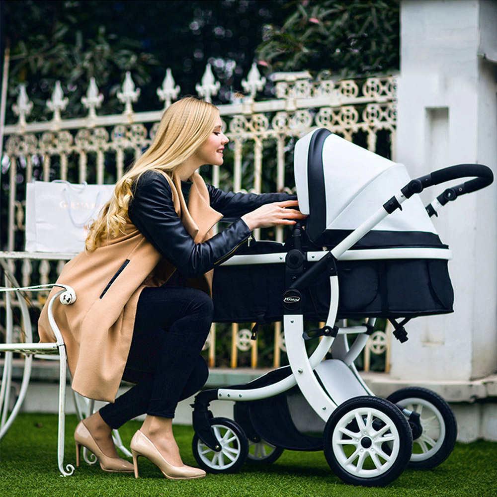 Foldable High Landscape Pram Baby Stroller Ultra-Lightweight Folding Can Sit Can Lie Portable Travelling Umbrella Baby TrolleyFoldable High Landscape Pram Baby Stroller Ultra-Lightweight Folding Can Sit Can Lie Portable Travelling Umbrella Baby Trolley