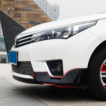 2 stks voor Toyota corolla 2014-2016 (sommige 2017 kan worden gebruikt, pls foto) voorbumper Hoek versieren