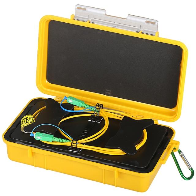 무료 배송 SC/APC SC/APC OTDR 데드 존 제거기, 파이버 링 500M 광섬유 OTDR 실행 케이블 박스 1Km 2Km SM 1310/1550nm