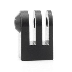 Image 5 - Cnc алюминиевый сплав мини штатив крепление для наружной спортивной камеры Базовый адаптер для всех 1/4 дюйма Винт монопод аксессуар