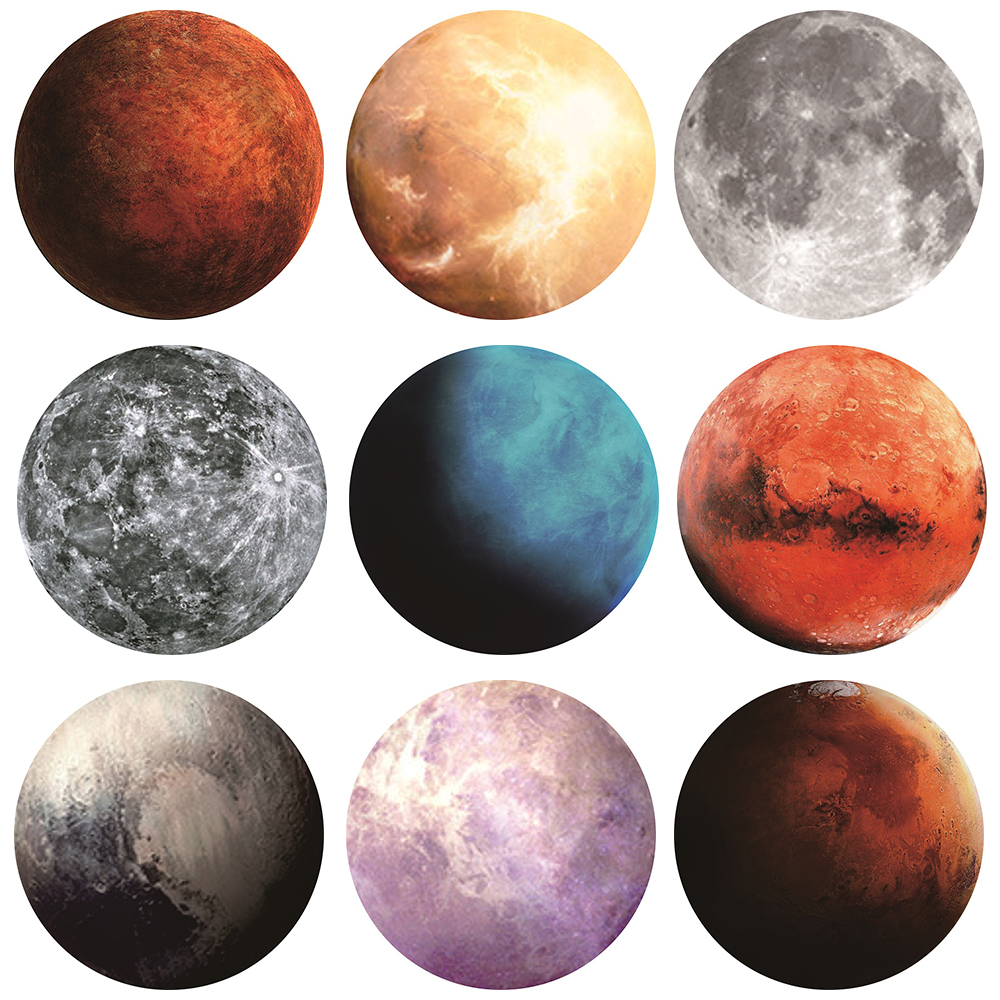 NEW Fashion Computer Mouse Padding Mat Ultra Soft Natural Rubber Planet Series Mice Pad Round Gaming Mouse Pads 20x20(CM)-in Mouse Pads from Computer & Office