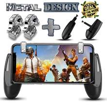 Joysticks For PUBG STG FPS Game Trigger Cell Phone Mobile Controller Fire Button Gamepad L1R1 Aim Key Joystick for iphone Androi(China)