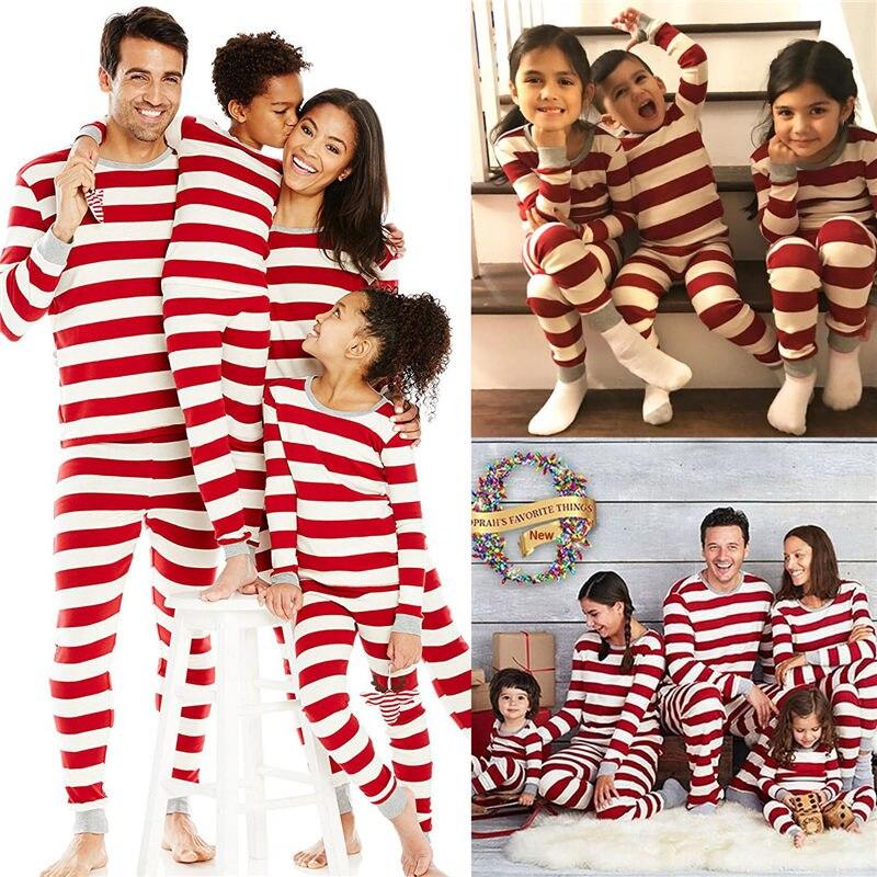 חג המולד משפחת התאמת תלבושות אמא אבא ילדי תינוק חג המולד פיג מה סט פסטיבל הלבשת Nightwear בגדים