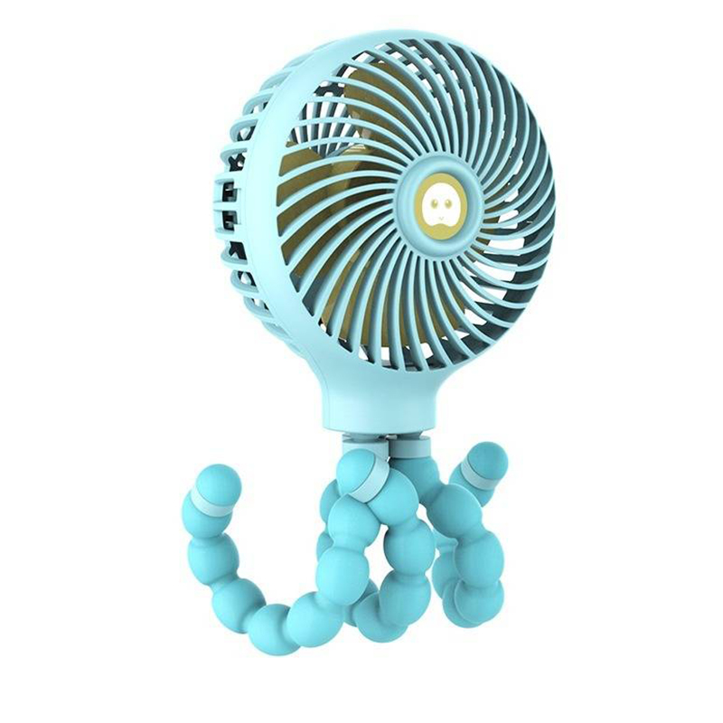 Windable Handheld Fan With Rechargeable Battery 3 Speed