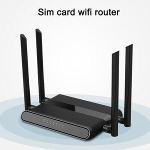 Image 2 - Wi Fi роутер 300 Мбит/с слотом для sim карты и 4 антеннами 5dbi поддержка pptp и l2tp, wifi 4g lte модем роутер