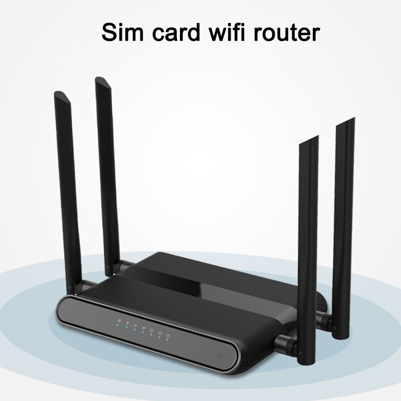 Image 2 - Wi Fi Router 300mbps with sim card slot and 4 5dbi antennas support vpn pptp and l2tp, wifi 4g lte modem router-in Wireless Routers from Computer & Office