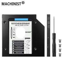 HDD caddy 12.7mm aluminum optibay SATA3.0 Hard Disk Drive enclosure DVD adapter 2.5