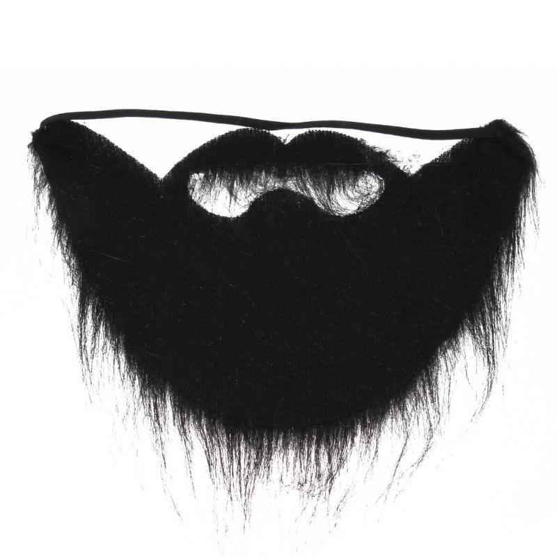 Black Halloween Fake Beard Plush Moustache Party Decoration Funny Party Facial Hair Halloween Costume Festive Supplies