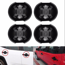 4x ABS Black Car Door Handle Cover Bowl Trim For Jeep Renegade 2015-2018 Outlet Edge Scratch Guard Protector Accessories
