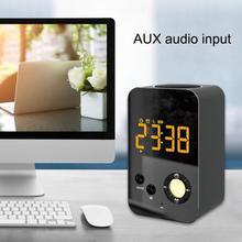 Модные динамик Hot Будильник беспроводной Bluetooth зеркало портативный мини бас цифровой USB FM радио FBE3