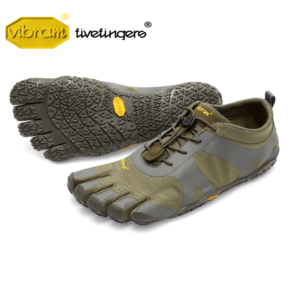 Vibram cinq doigts v-alpha baskets homme de cross-country course en plein air cinq-toed armée couleur cinq doigts chaussures Parkour aventure