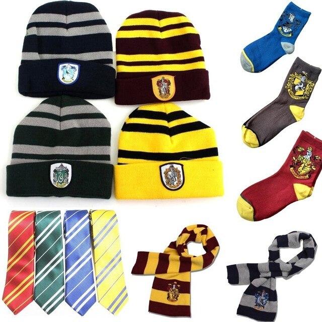 Acessórios de Halloween Harri Potter Gryffindor Slytherin Hufflepuff Ravenclaw Cachecol Meias Luvas Colsplay Óculos Brinquedos Varinha Mágica