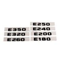 Etiqueta engomada de la etiqueta del emblema de la insignia de las letras del maletero trasero del ABS negro mate plano para Mercedes Benz E Class E350 E320 e260 E250