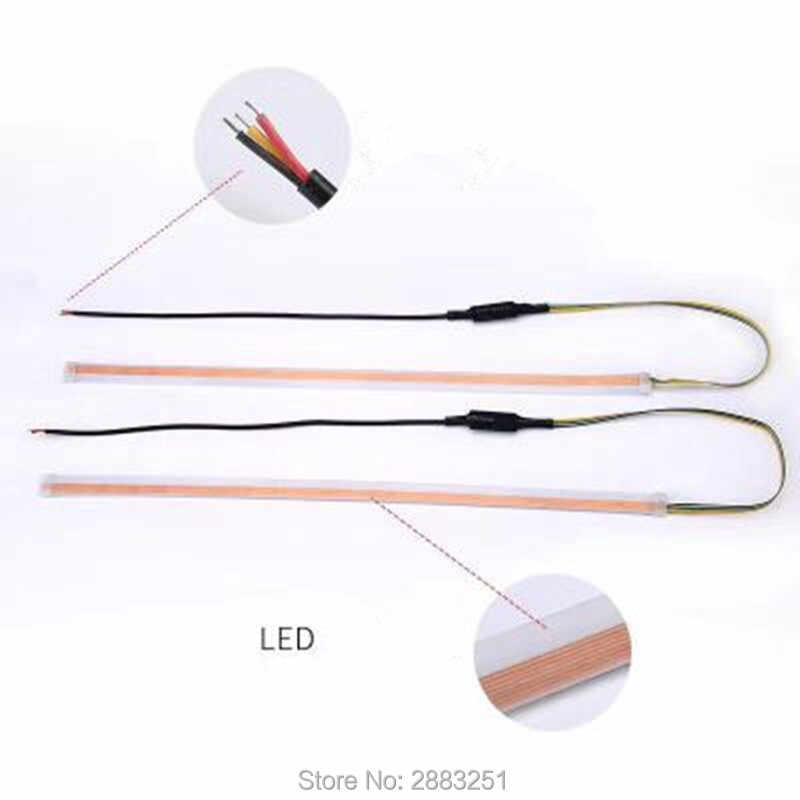 Ультра-тонкий светодио дный лампы светодиодные полосы для бровей стримерная лампа отложным воротником сигнала для NISSAN tiida j10 j11 versa juke qashqai Серена стайлинга автомобилей