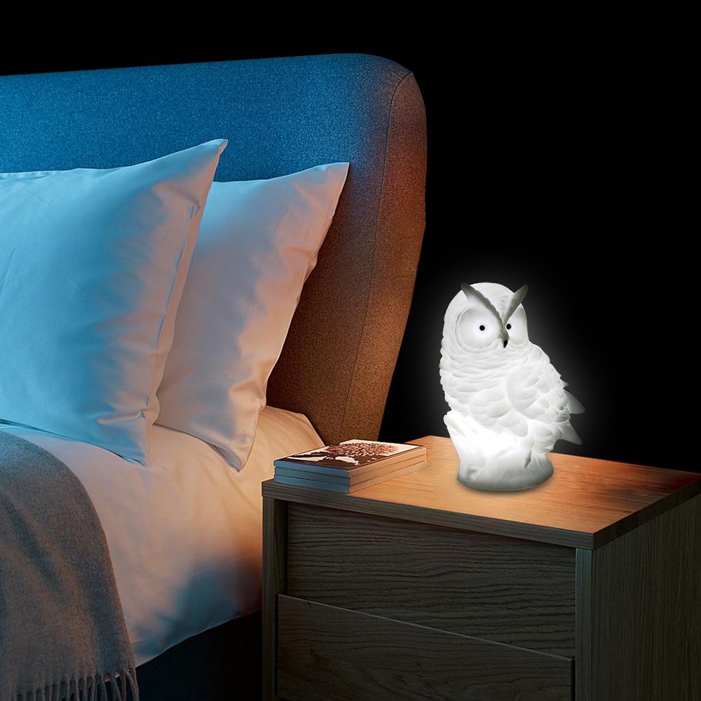 Night Lights DC5V LED Owl Night Lamp Desk Table Lamp LR44 Battery Powered Animal Night Light Bedside Lamp 45