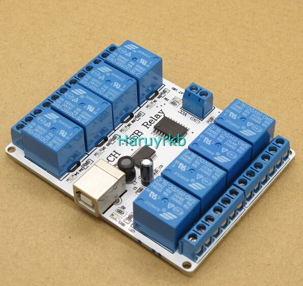 8ch dc 12V USB Relay Module Opto-couple For PC computer r3 Robotics8ch dc 12V USB Relay Module Opto-couple For PC computer r3 Robotics