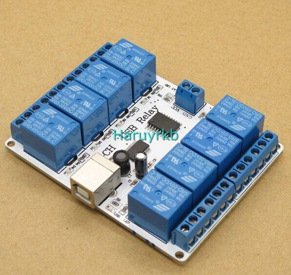 8ch dc 12V USB Relay Module Opto couple For PC computer r3 Robotics